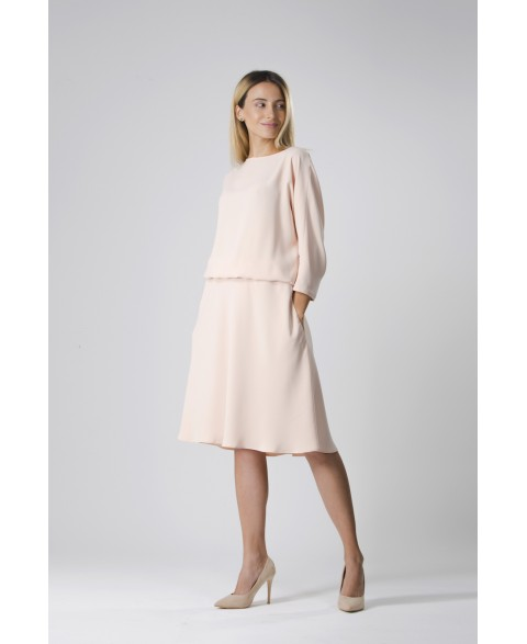 Anahit | Drapey dress in soft pink