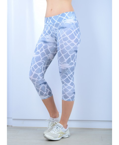 Blurred Design 3/4 Leggings