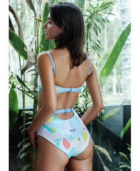BIARRITZ BOTTOM REVERSIBLE IN FLOWER/CRAB PRINT