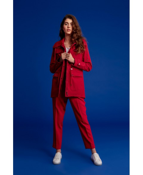 PARKA WOMEN - Reddest Red, Red Laces
