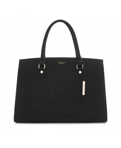 Aricia Black Vegan Laptop Bag