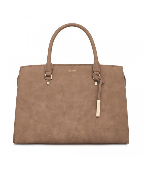 Aricia Brown Vegan Laptop Bag