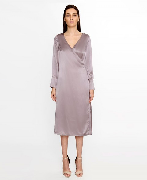 Anchor Grey Silk Dress