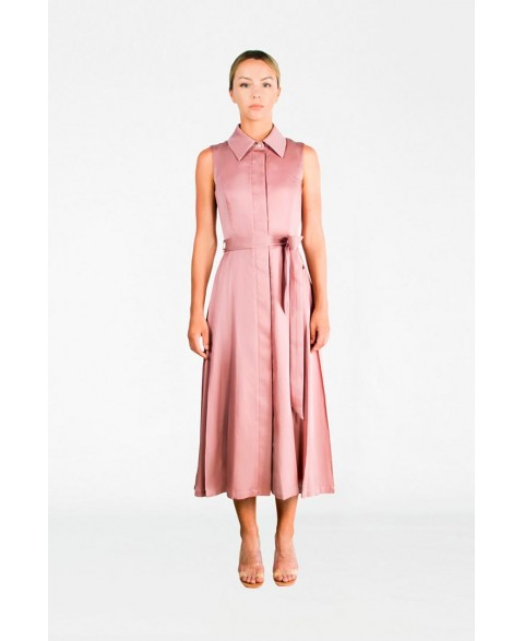 Ash Rose Silk & Cotton Dress