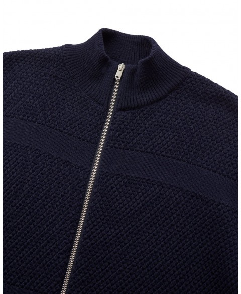 Wex Sailor Zip Cardigan - Navy