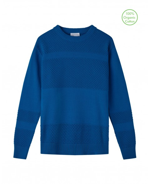 Anker Cotton Jumper - Blue