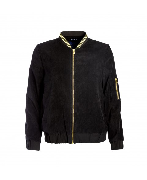 Panthera Bomber Jacket Black Velvet