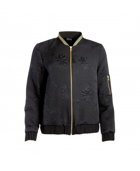 Dark Bloom Bomber Jacket